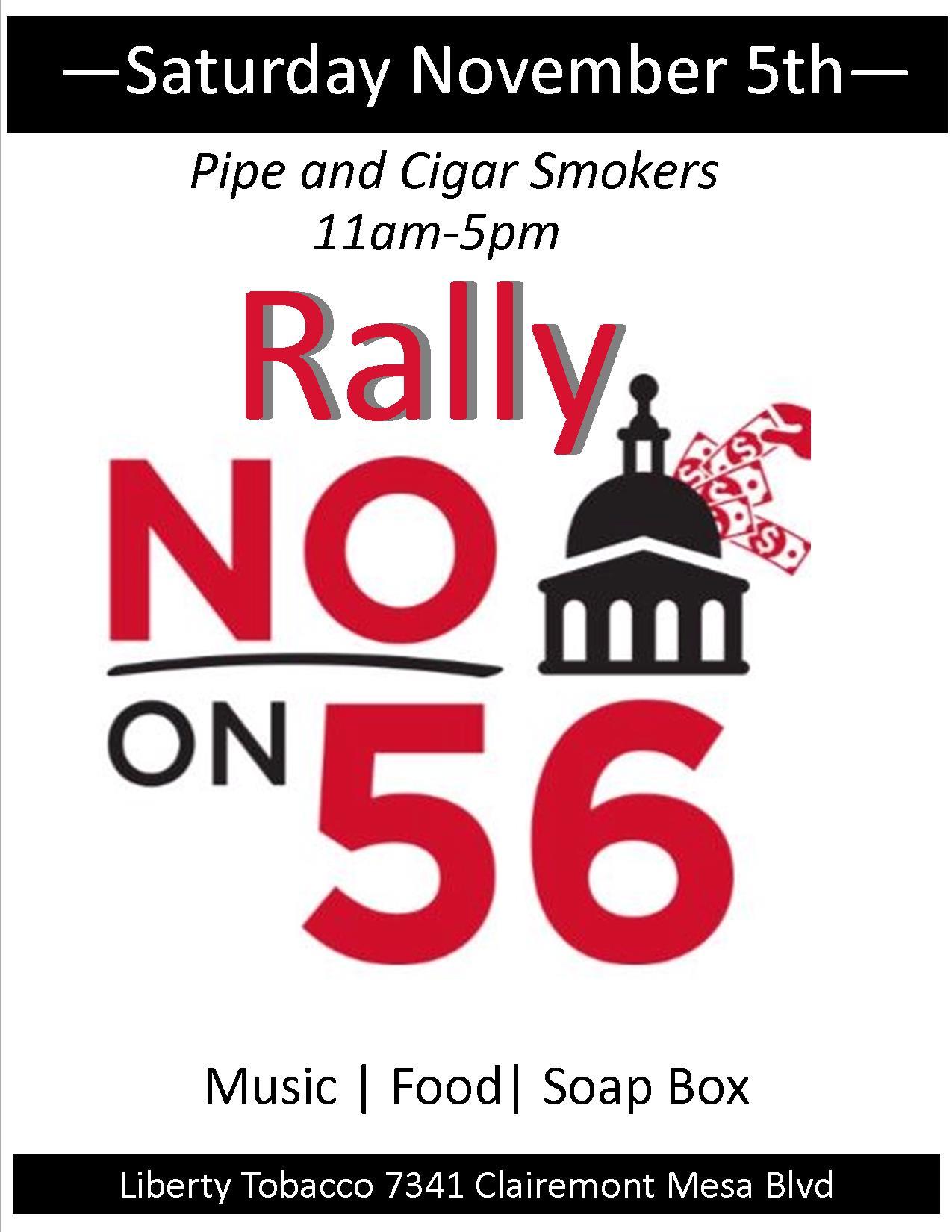 November 5th Rally for NO on Prop 56 at Liberty Tobacco