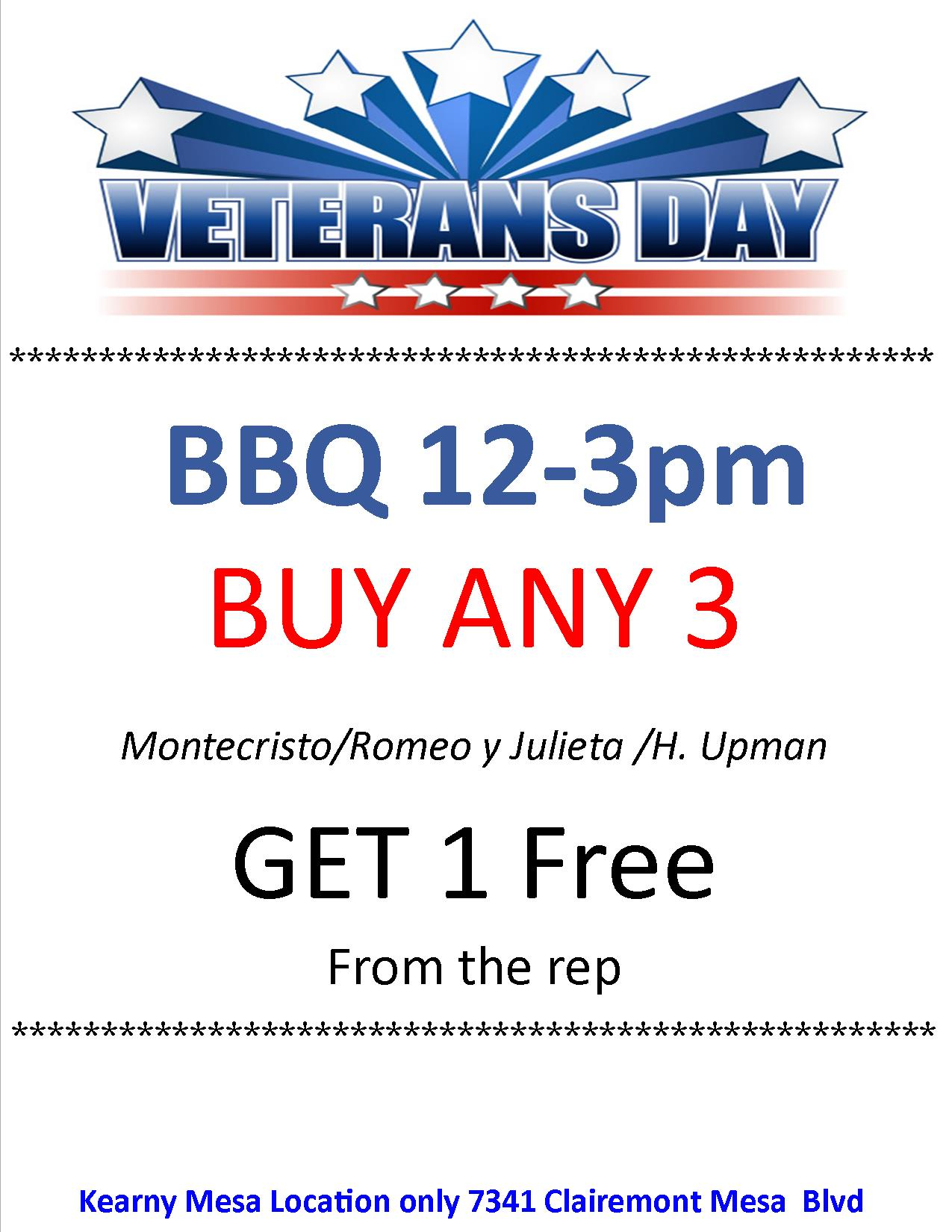 Veterans Day Specials at Liberty Tobacco