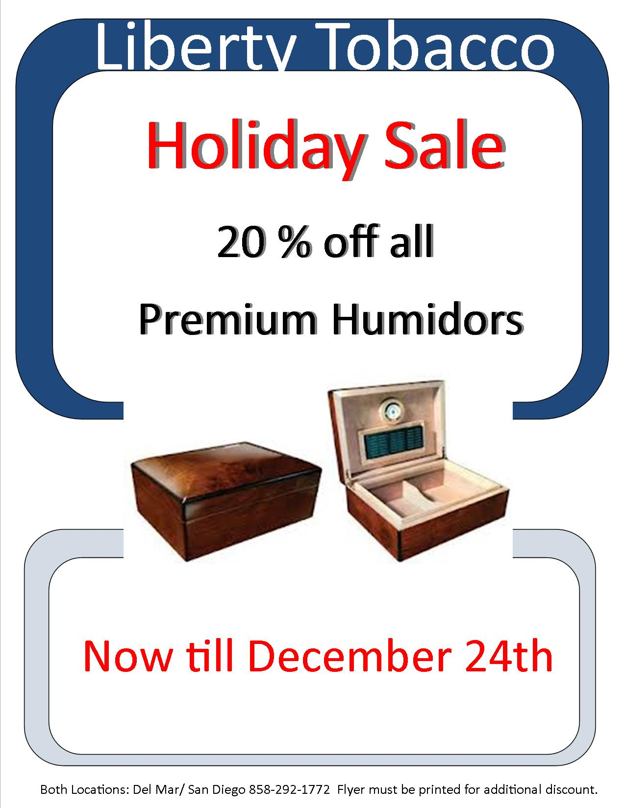 Humidor Sale at Liberty Tobacco