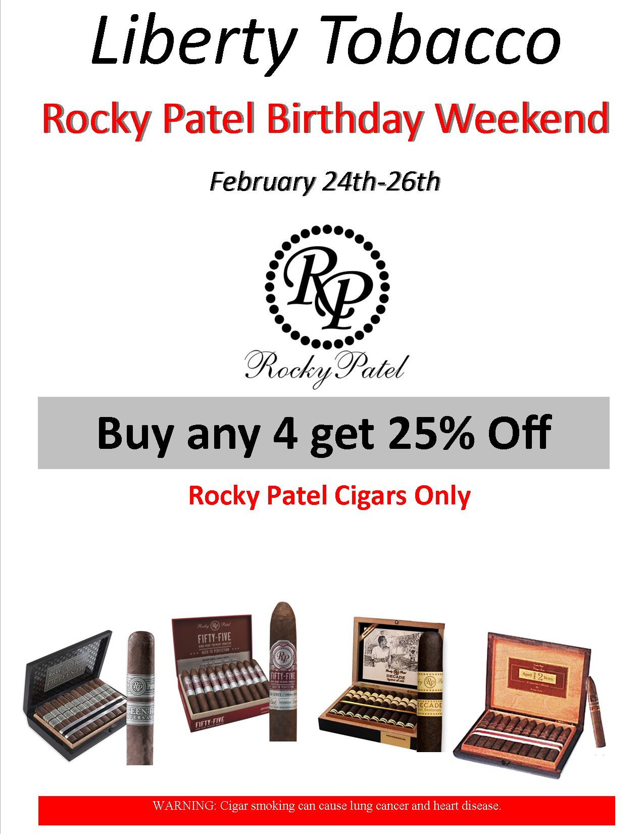 Rocky Patel Birthday Weekend Special