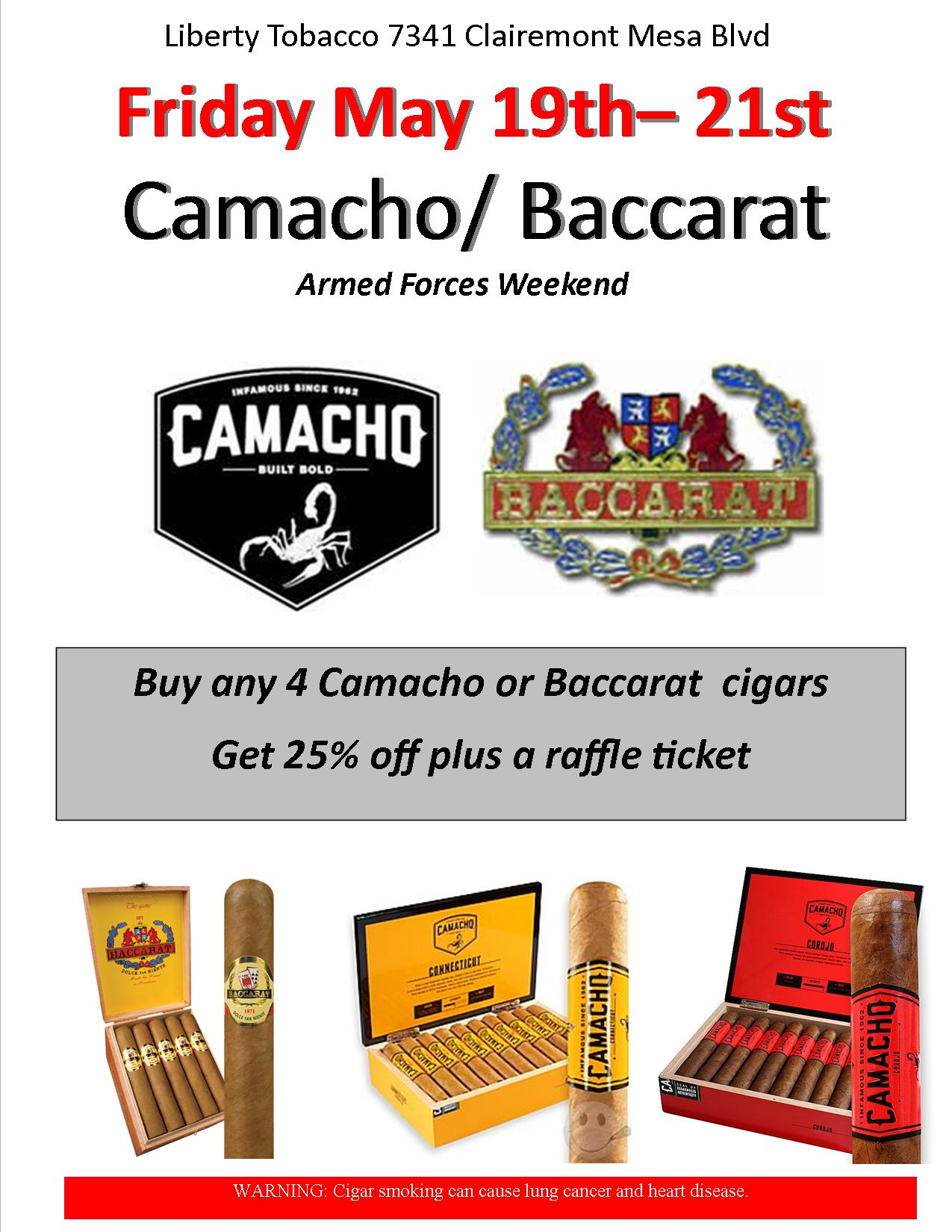Camcho/Baccarat Event at Liberty Tobacco Kearny Mesa
