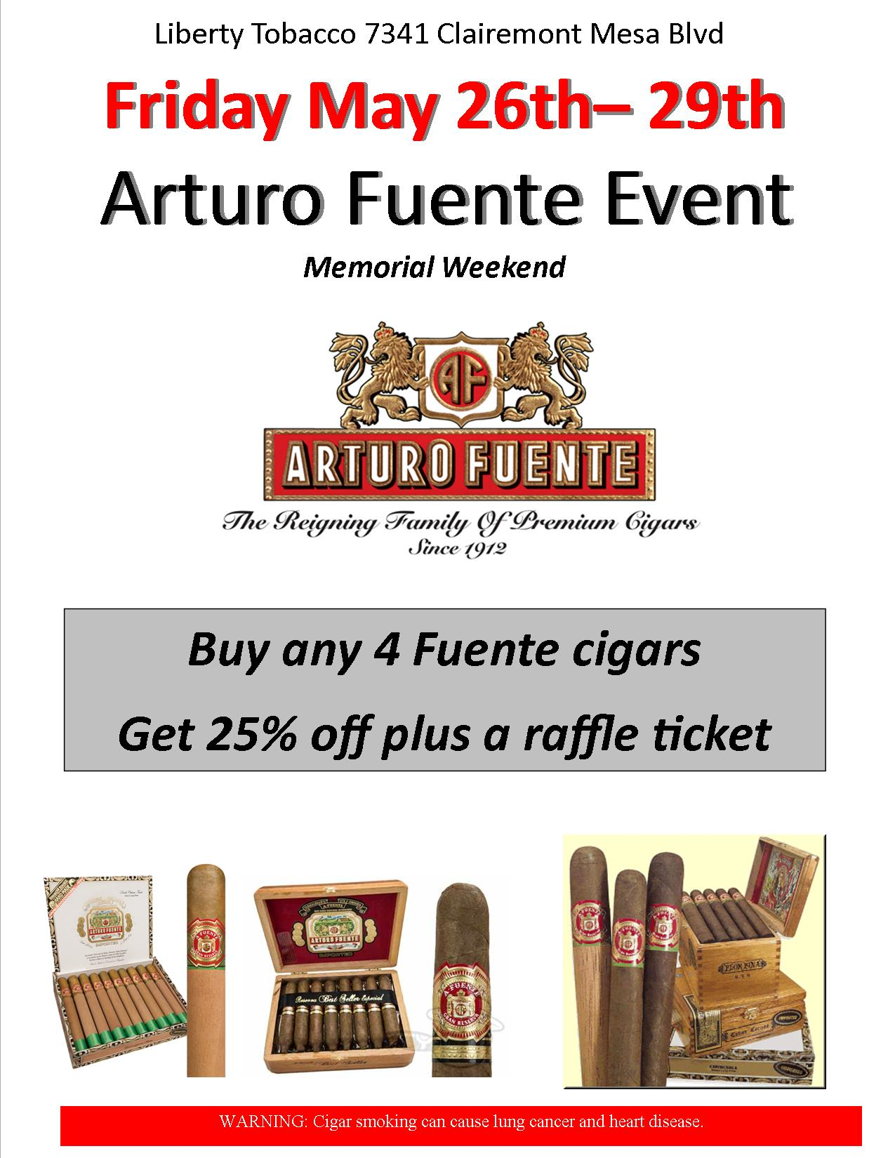 Arturo Fuente Memorial Weekend Event