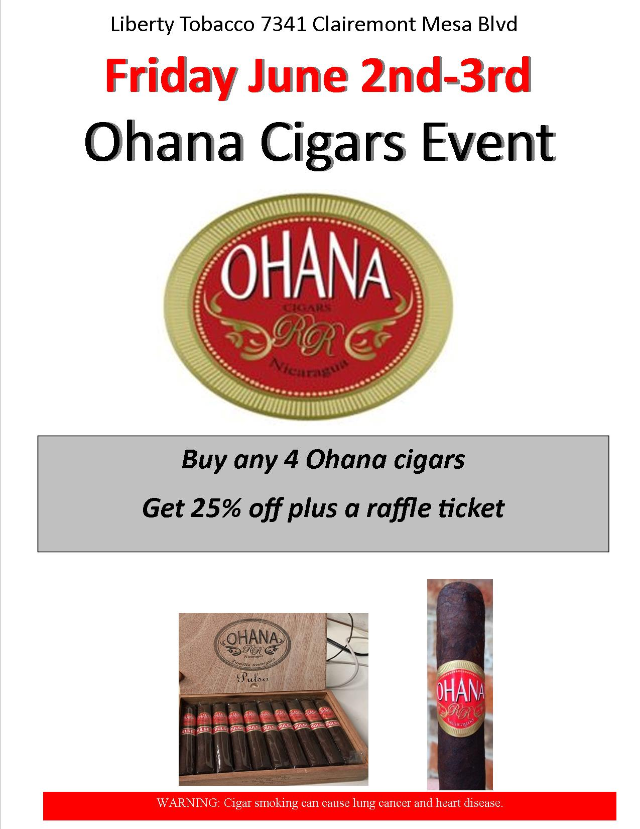 Ohana Cigar Event at Liberty Tobacco
