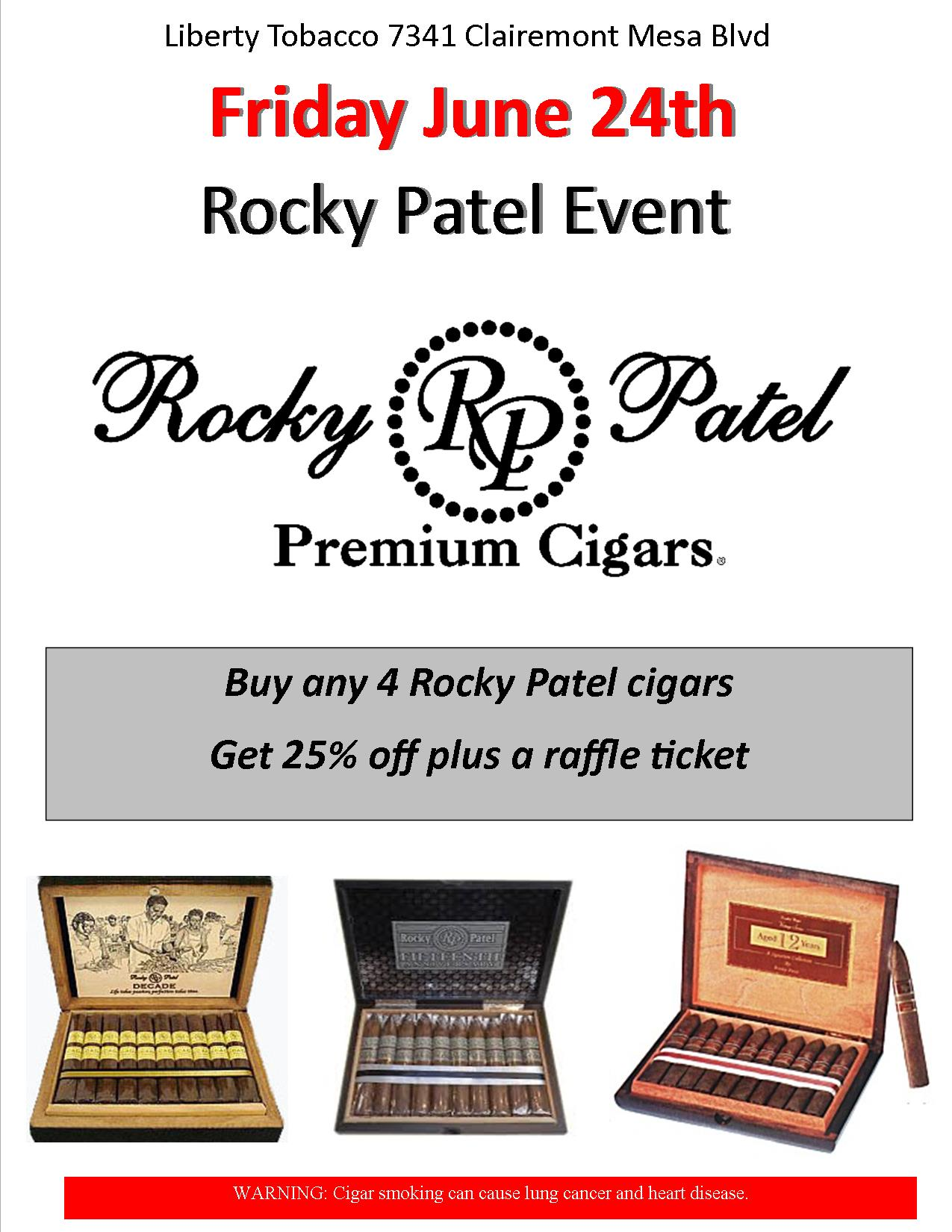 Rocky Patel Event at Liberty Tobacco