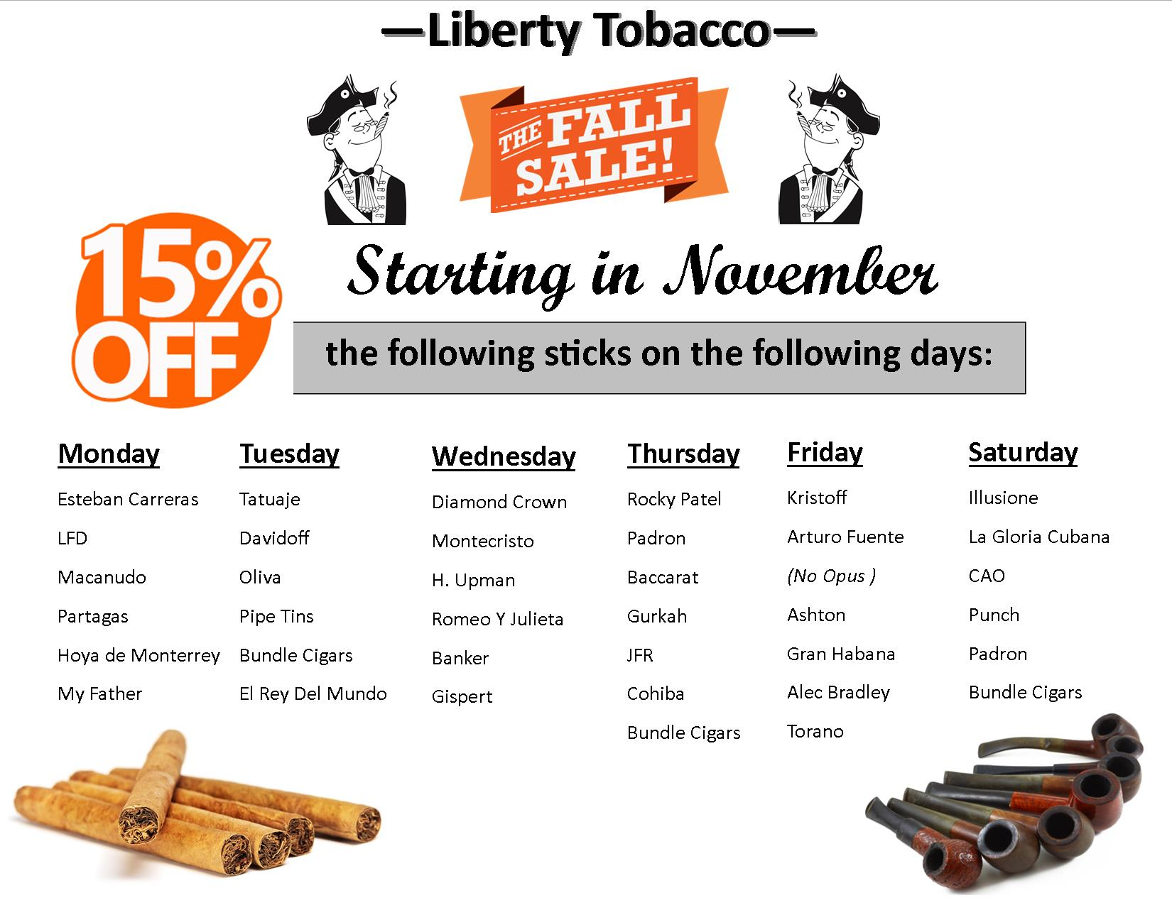 November Sales Promotion at Liberty Tobacco